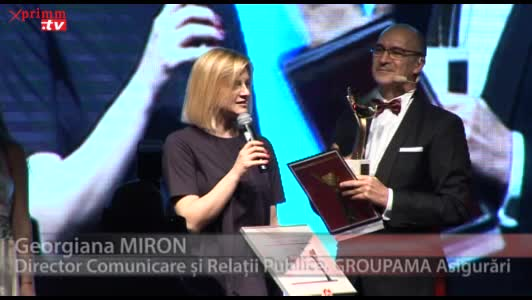 Premiul pentru Calitatea Serviciilor: GROUPAMA AsigurariGeorgiana MIRONDirector Comunicare si Relatii Publice, GROUPAMA Asigurari