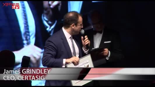 Trofeul PRIMM: CERTASIGJames GRINDLEYCEO, CERTASIG