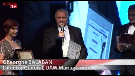 Premiul Special Pentru Dinamism: DAW ManagementGheorghe BALABANDirector General, DAW Management